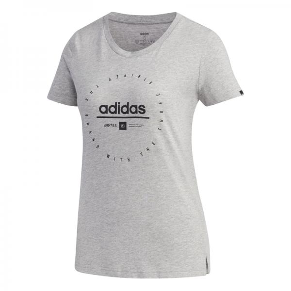 Camiseta adidas w adi clock t